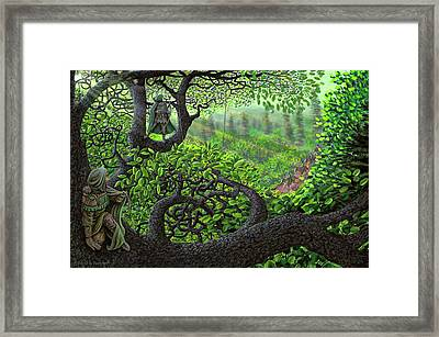 Framed Print featuring the painting Robin Hood by Dave Luebbert