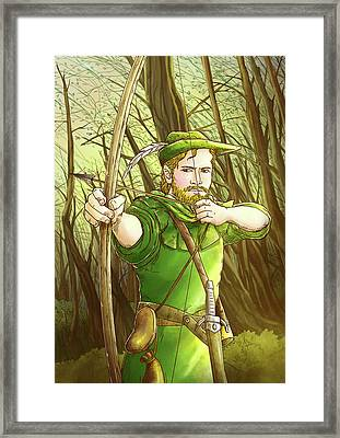 Robin  Hood In Sherwood Forest Framed Print