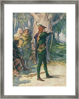 Robin Hood Framed Print by Robert Hope