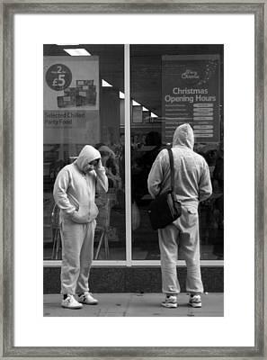 Robin Hoodie Framed Print by Jez C Self