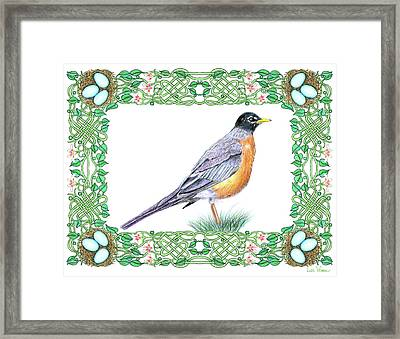 Robin In Spring Framed Print