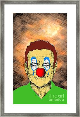 Framed Print featuring the drawing Robin Williams 1 by Jason Tricktop Matthews