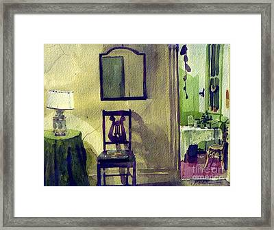 Robin's Chair Framed Print by Donald Maier