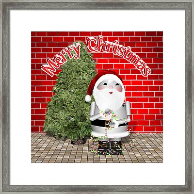 Robo-x9 Wishes A Merry Christmas Framed Print