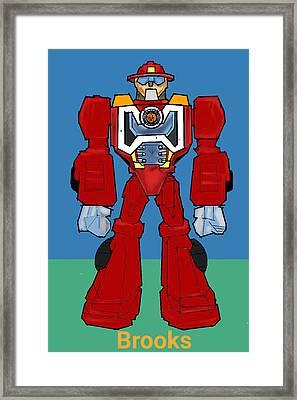 Robot 1 Framed Print by Denny Casto