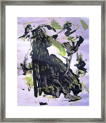 Robot Breaking Up Framed Print by Bruce Combs - REACH BEYOND