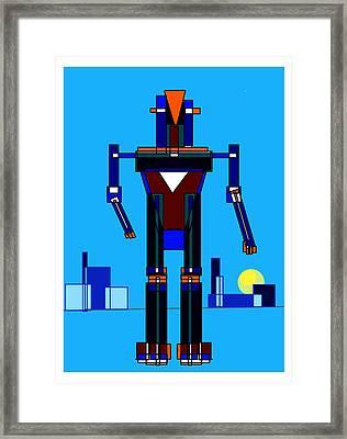 Robot Framed Print by Denny Casto