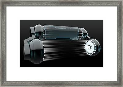 Robot Display Mechanism Framed Print by Allan Swart