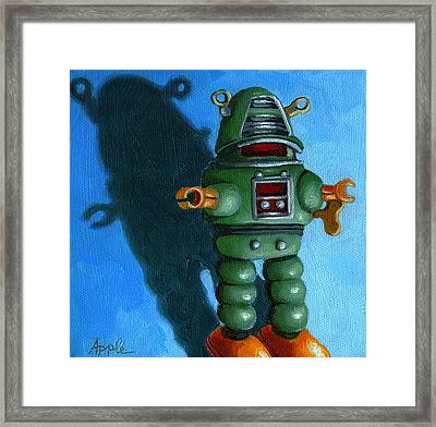 Robot Dream - Realism Still Life Painting Framed Print
