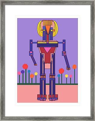Robot Girl Framed Print by Denny Casto