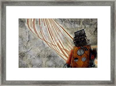 Robot Love Framed Print by Shawn Ross