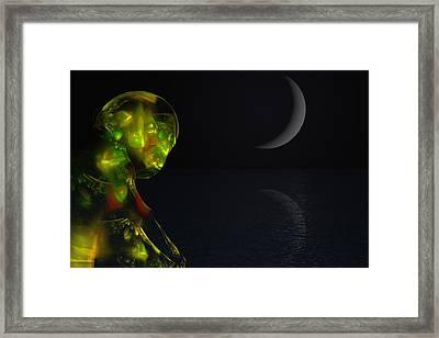 Robot Moonlight Serenade Framed Print by David Lane