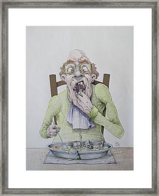 Robot Soup Framed Print
