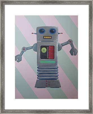 Robot Sr. Framed Print by Ramey Guerra