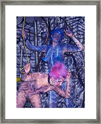 Robotic Blues Framed Print by Leigh Odom
