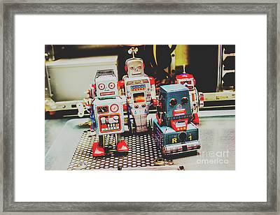 Robots Of Retro Cool Framed Print by Jorgo Photography - Wall Art Gallery