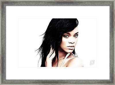 Robyn Rihanna Fenty Framed Print