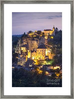 Rocamadour Twilight Framed Print