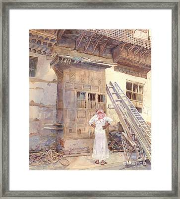 Rochan With Figure Framed Print by Dorothy Boyer