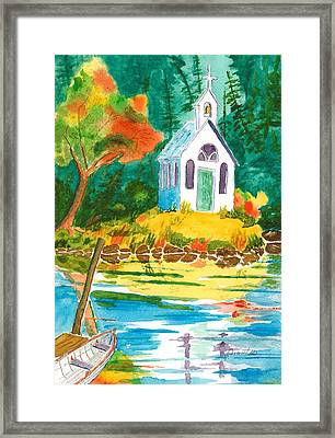 Roche Harbor Chapel Framed Print by Buster Dight