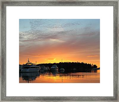 Roche Harbor Sunset Framed Print