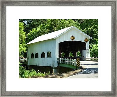 Rochester Bridge Framed Print by Methune Hively
