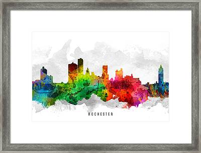 Rochester New York Cityscape 12 Framed Print by Aged Pixel