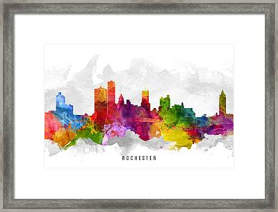 Rochester New York Cityscape 13 Framed Print by Aged Pixel