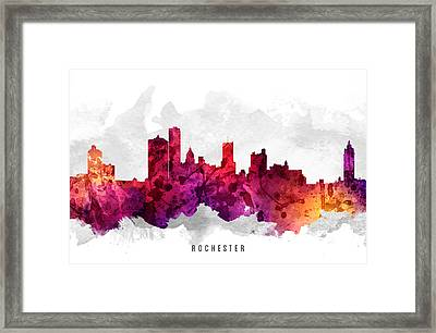 Rochester New York Cityscape 14 Framed Print by Aged Pixel