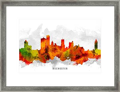 Rochester New York Cityscape 15 Framed Print by Aged Pixel