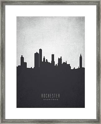 Rochester New York Cityscape 19 Framed Print by Aged Pixel