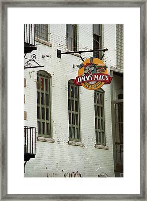 Framed Print featuring the photograph Rochester, New York - Jimmy Mac's Bar 3 by Frank Romeo