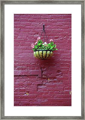 Framed Print featuring the photograph Rochester, New York - Purple Wall by Frank Romeo