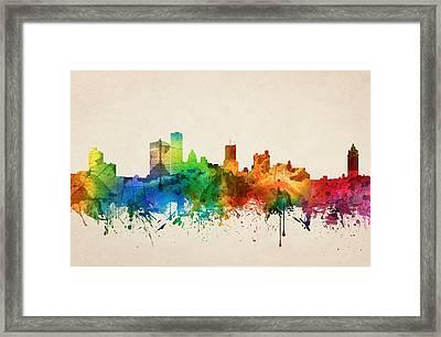 Rochester New York Skyline 05 Framed Print by Aged Pixel