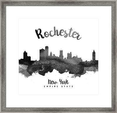 Rochester New York Skyline 18 Framed Print by Aged Pixel