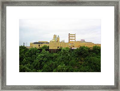 Framed Print featuring the photograph Rochester, Ny - Factory On A Hill by Frank Romeo