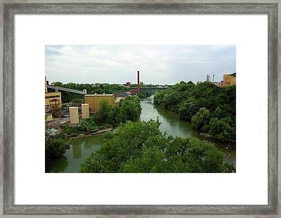 Rochester, Ny - Genesee River 2005 Framed Print by Frank Romeo