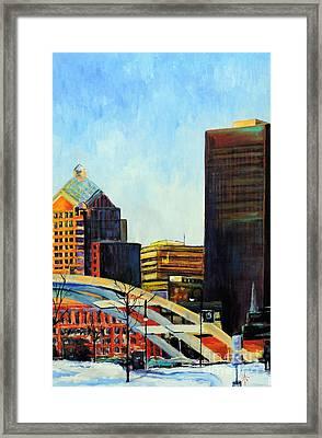 Rochester New York Late Winter Framed Print by Jodie Marie Anne Richardson Traugott          aka jm-ART