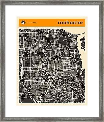 Rochester Ny Map Framed Print