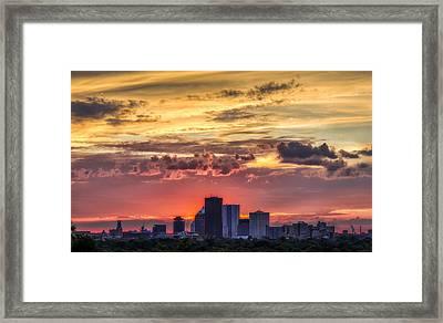 Rochester Skyline Framed Print by Mark Papke