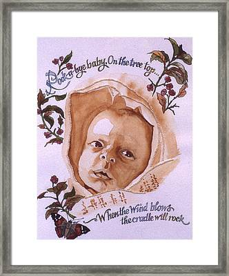 Rock A Bye Baby Framed Print by Victoria Heryet
