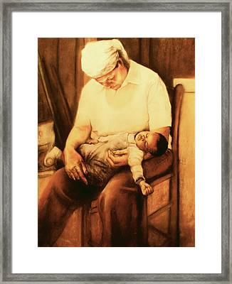 Rock-a-bye Grandma Framed Print by Curtis James