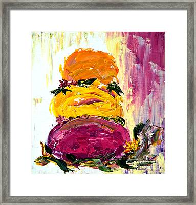 Rock Abstract Framed Print
