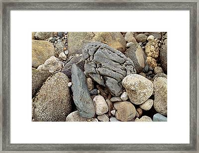 Rock Abstract Stair Falls Photo Framed Print by Peter J Sucy