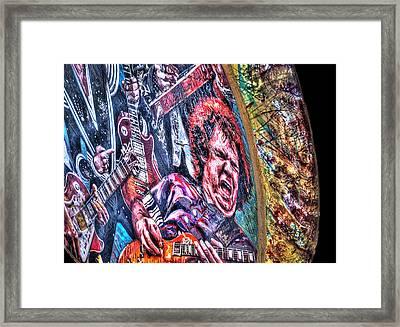 Rock All Night Framed Print by Deborah Klubertanz