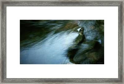 Rock And Flow Framed Print