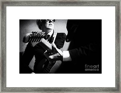 Rock And Roll 1 Framed Print by Bob Christopher