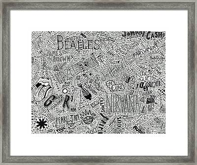 Rock And Roll 1950's - Today Framed Print