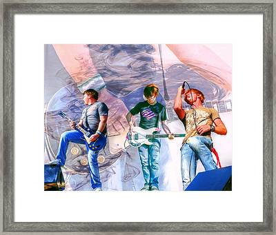 Rock And Roll Band Version 1 Framed Print by Randy Steele