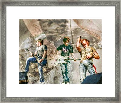 Rock And Roll Band Version 2 Framed Print by Randy Steele